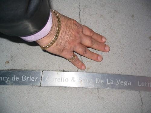La mano de Aurelio de la Vega. Foto mia.