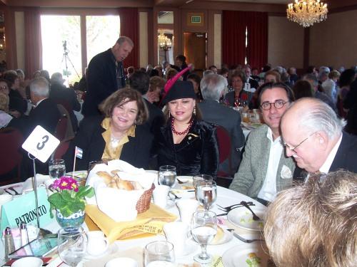De izq a der. Norma Montero, yo, Andy Garcia y Aurelio de La Vega, en LA.
