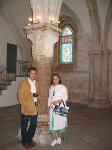 Con el escritor Javier Sierra en la Sala de La Última Cena, Jerusalén