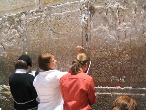 En el Muro de las Lamentaciones, Jerusalén