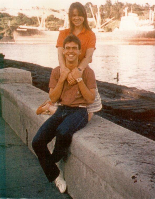 Ramón Unzueta y yo, 1979. Foto Enaida Unzueta.
