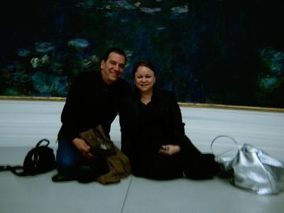 Con Juan Abreu y Los Nenúfares de Monet. Foto Marta Sugrañes.