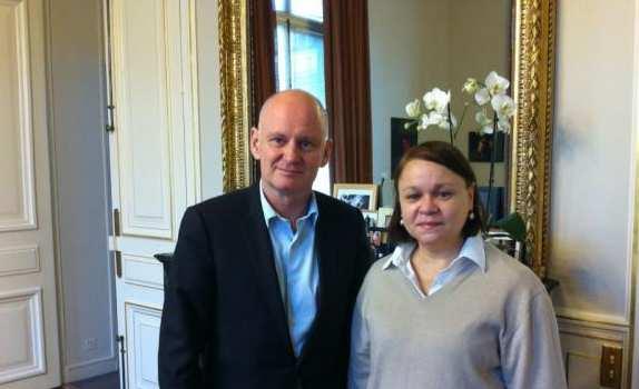 Con el alcalde de Paris 4ème, M. Christophe Girard