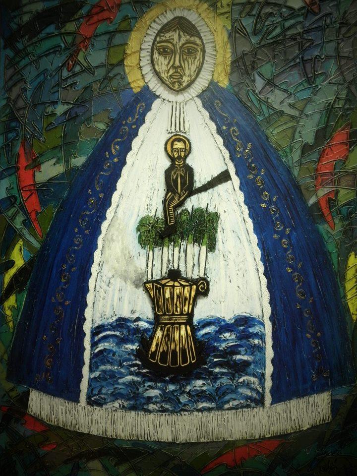 La Caridad del Cobre y José Martí, Michel Blázquez, 2013