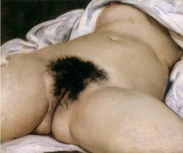 El nacimiento del mundo. Gustave Courbet