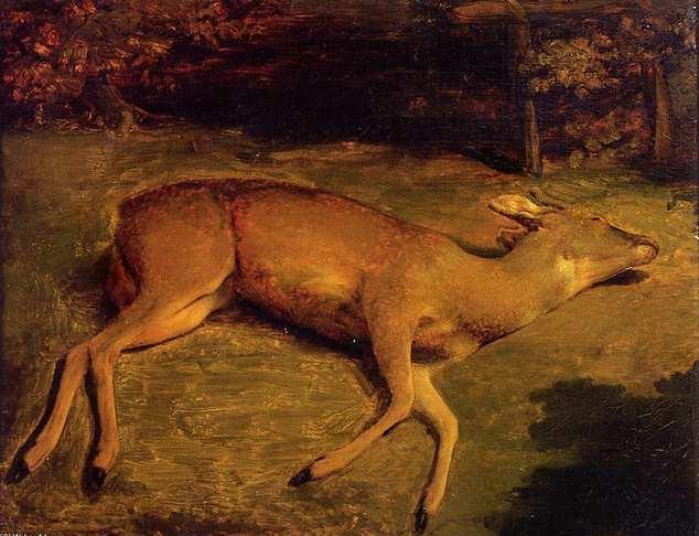 El ciervo herido. Gustave Courbet