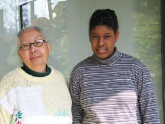 Tania Quintero y su nieta mayor.