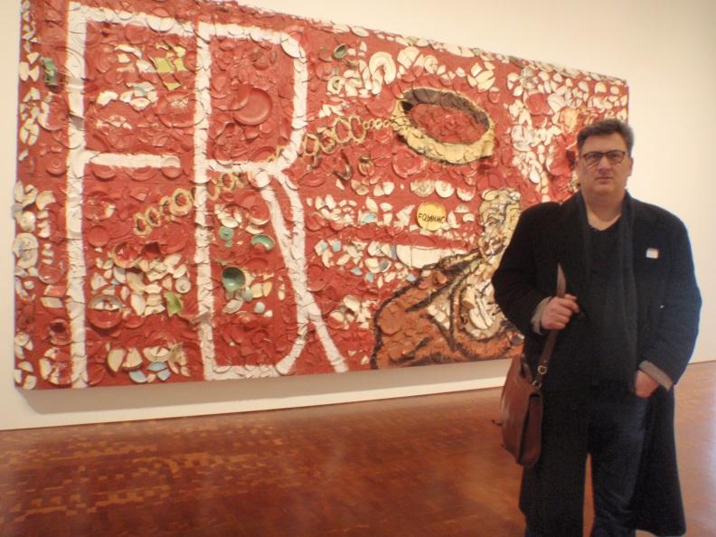 Ricardo Vega en el Museo Calatrava de Milwaukee (Foto mía)