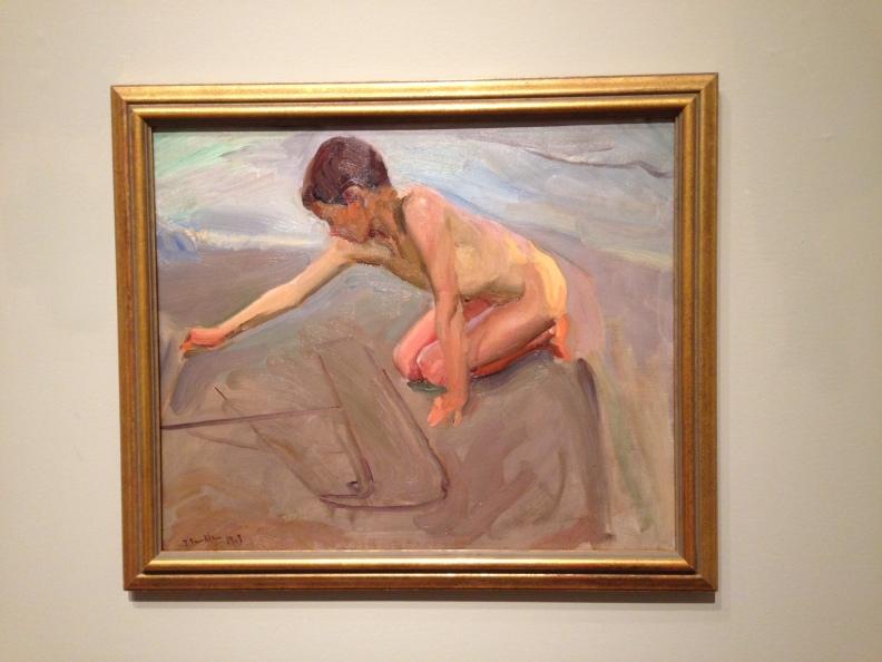 Pintando en la arena. Joaquín Sorolla y Bastida