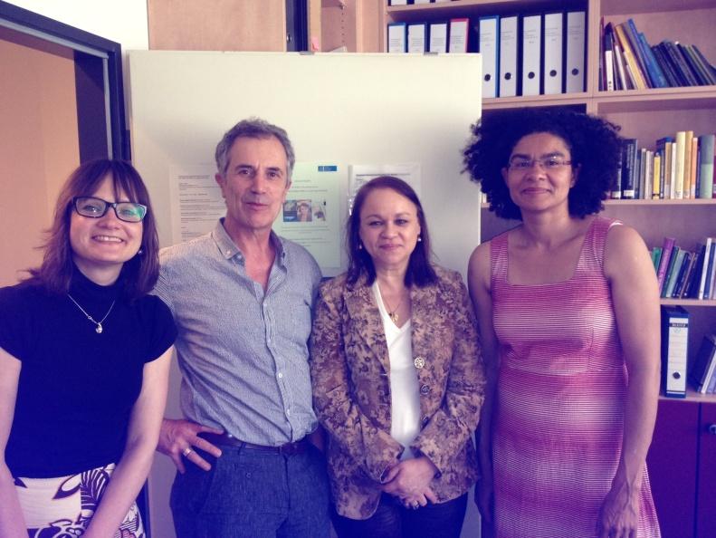 Con Martina, Christophe y Anja, en la Universidad de Hannover
