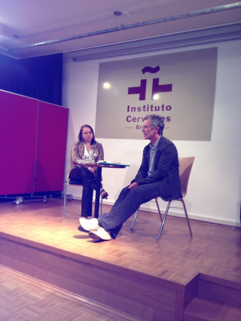 Con Christphe Singler en el Instituto Cervantes de Bremen