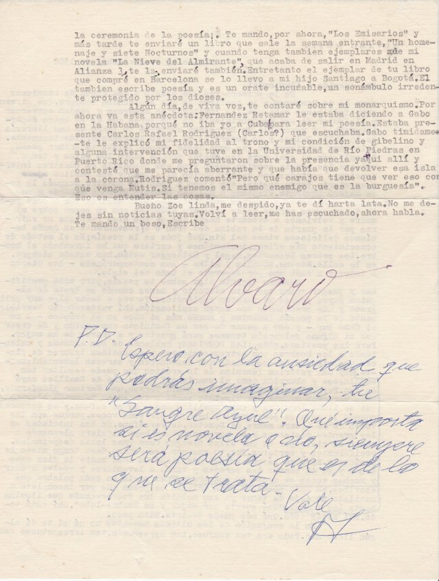 Carta Álvaro Mutis 2