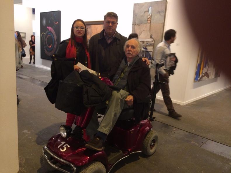 Con Waldo Díaz-Balart y  Gustavo Valdés, en ARCO