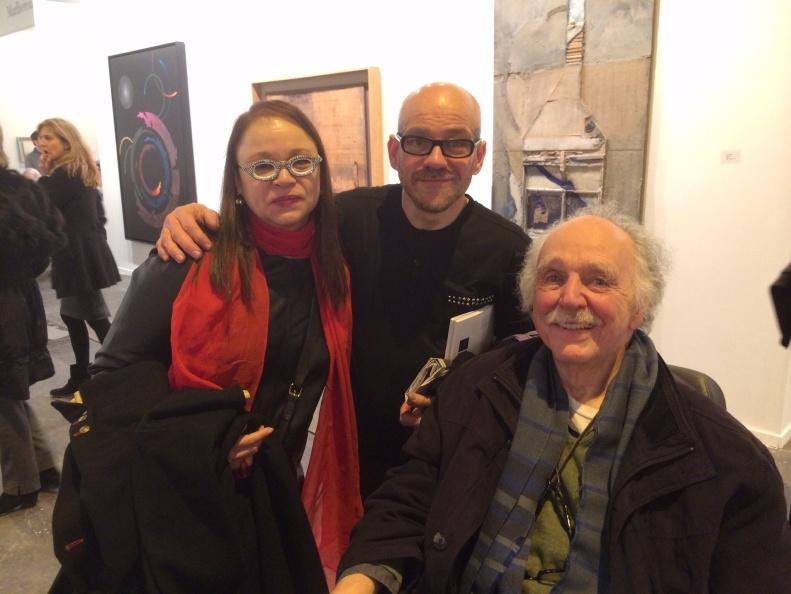 Cepp Selgas, Waldo Díaz-Balart y yo, en ARCO