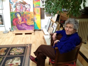 Photo of Gina Pellón in Her Studio in Paris, 2013