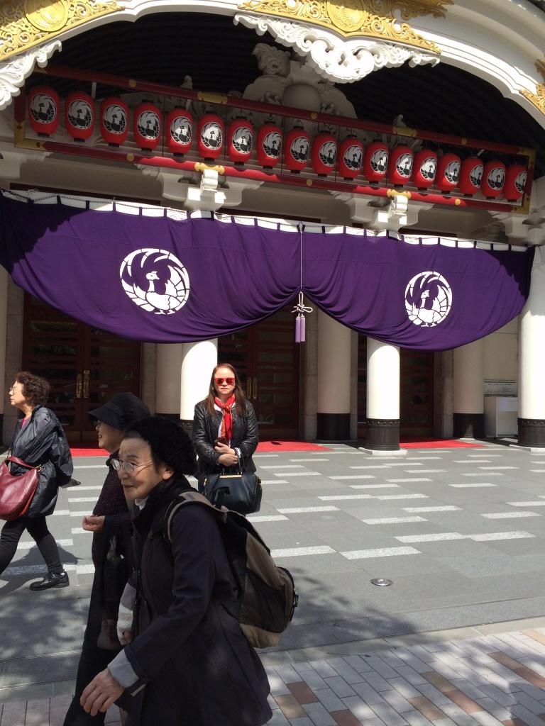 En el teatro Kabuki - Tokio