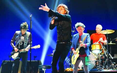 "British rock band The Rolling Stones perform during their ""50 & Counting"" tour in Anaheim"