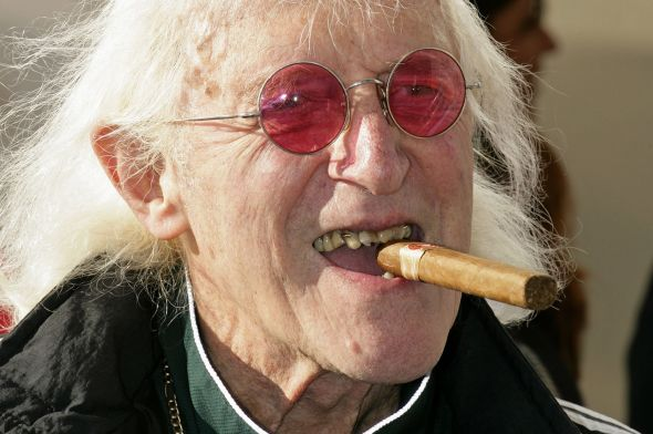 Jimmy Savile attends the naming ceremony of Cunard's new cruise liner 'Queen Elizabeth' at Southampton Docks on October 11, 2010 in Southampton.