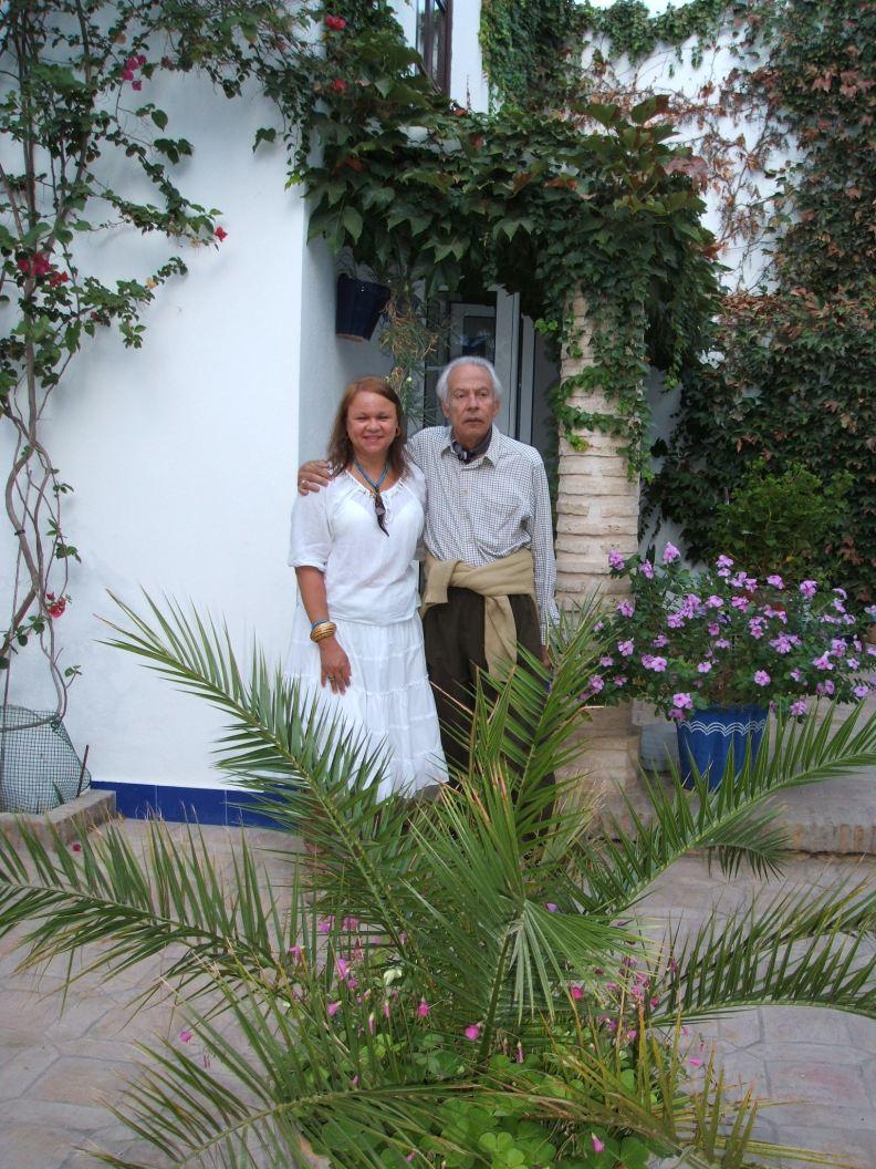 Con mi querido Jorge Camacho, en su casa del Rocío, 2005