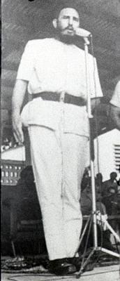 Castro a su regreso de África en 1980