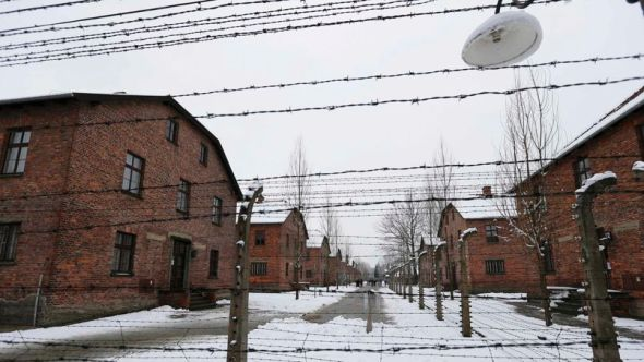 Picture shows a general view of the former Nazi German concentration and extermination camp Auschwitz in Oswiecim