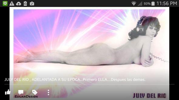 July del Río desnuda