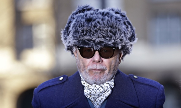 Gary Glitter arrives at Southwark Crown Court for trial over historic sex abuse charges
