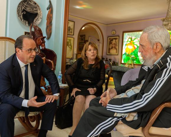 Presidente-francés-visita-a-Fidel-Castro-en-La-Habana