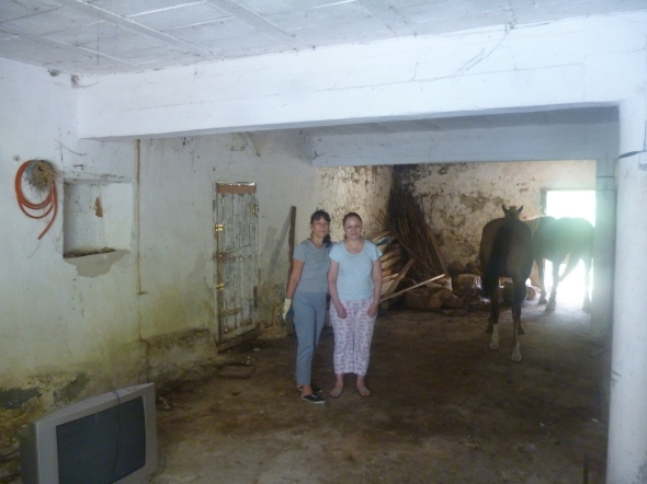 Ena y yo en la cuadra de Río Seco