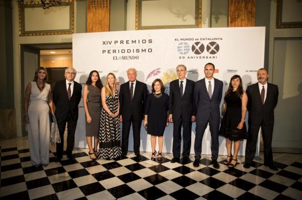 Alberto Di Lolli. 22/09/2015. Catalunya. Barcelona. Gala de entrega de la XIV edicion de los Premios Internacional de Periodismo de El Mundo 2015.