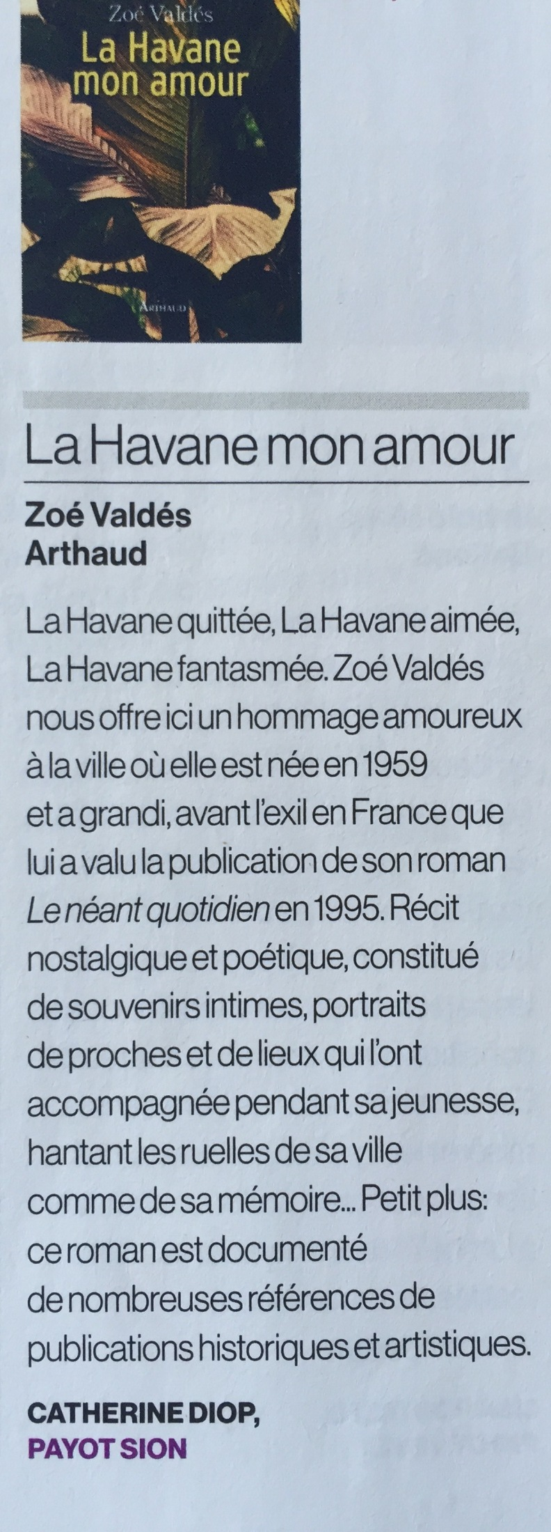 La Havane, mon amour Hebdo Suisse