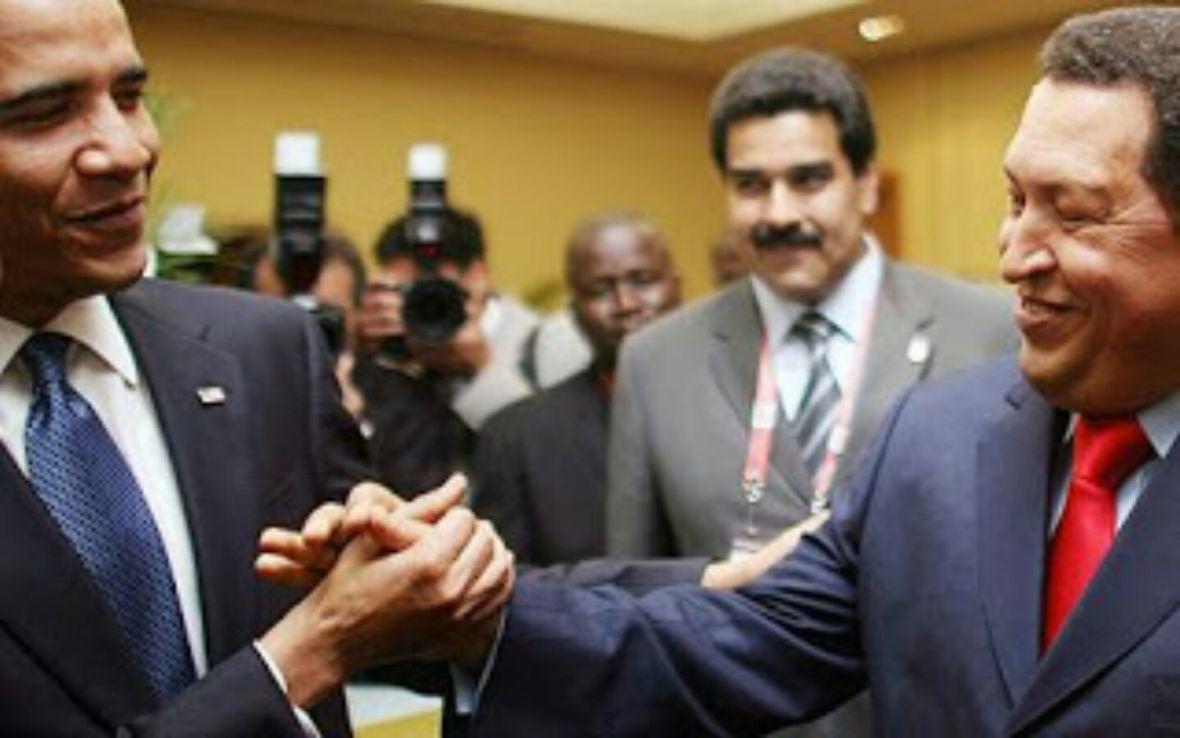Obama, Chávez, Maduro