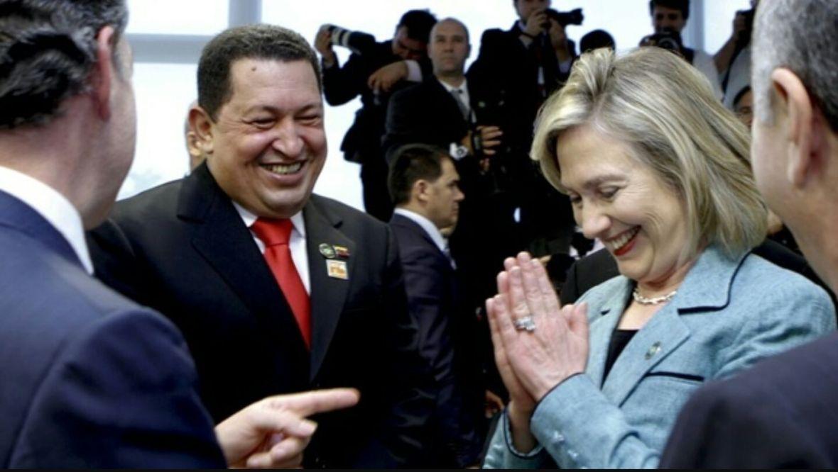 Hillary y Chávez