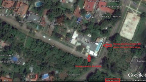 Vista aérea de la casa de Mariela Castro