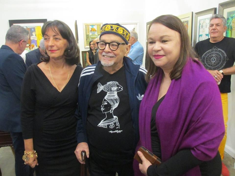 Con Enaida Unzueta y el pintor y maestro Miguel Ordoqui