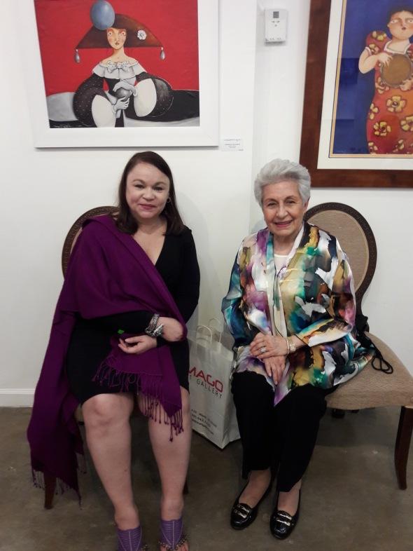 Con Aleida Garrido