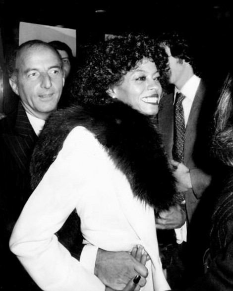 Angelo Donghia y Diana Ross