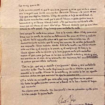 Carta Eliseo Diego